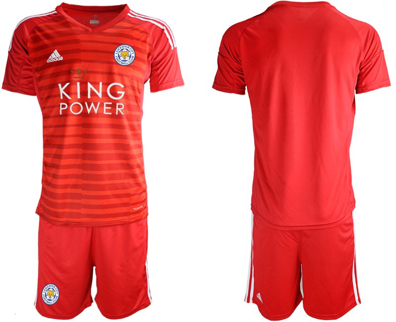 Men 2018-2019 club Leicester City red goalkeeper soccer jersey