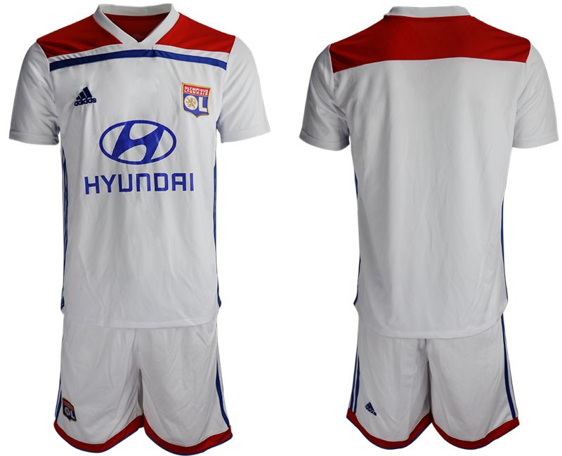 Men 2018-2019 club Lyon home white Soccer Jerseys