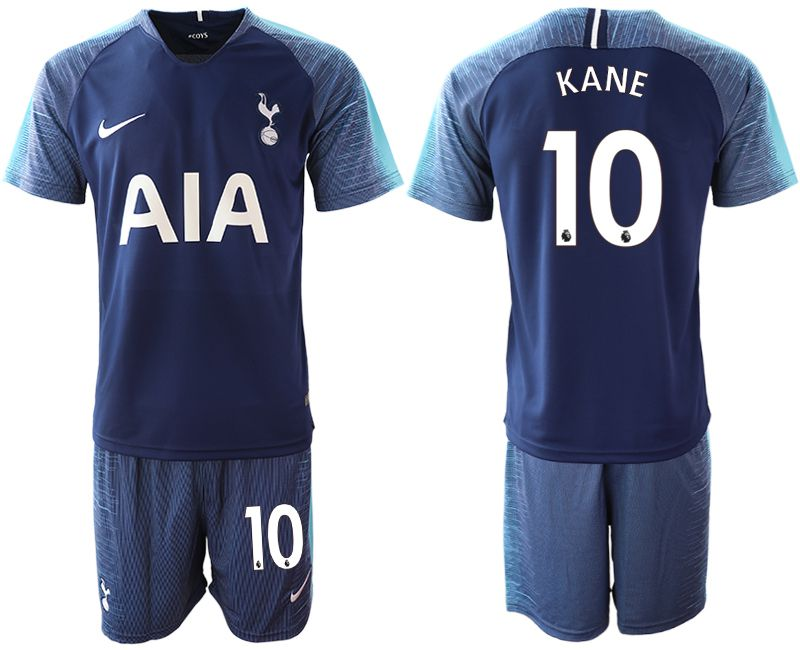 Men 2018-2019 club Tottenham Hotspur away 10 blue Soccer Jerseys