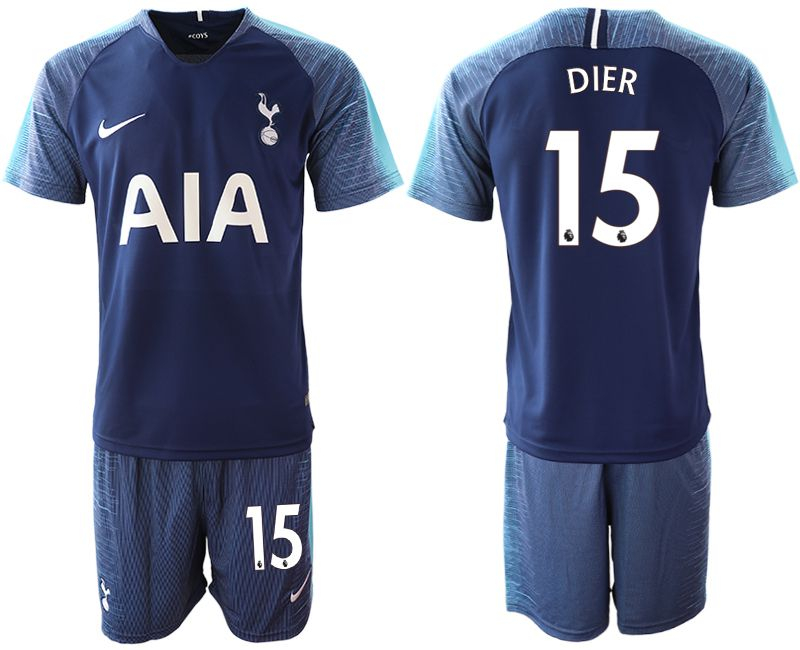 Men 2018-2019 club Tottenham Hotspur away 15 blue Soccer Jerseys