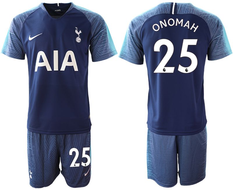 Men 2018-2019 club Tottenham Hotspur away 25 blue Soccer Jerseys
