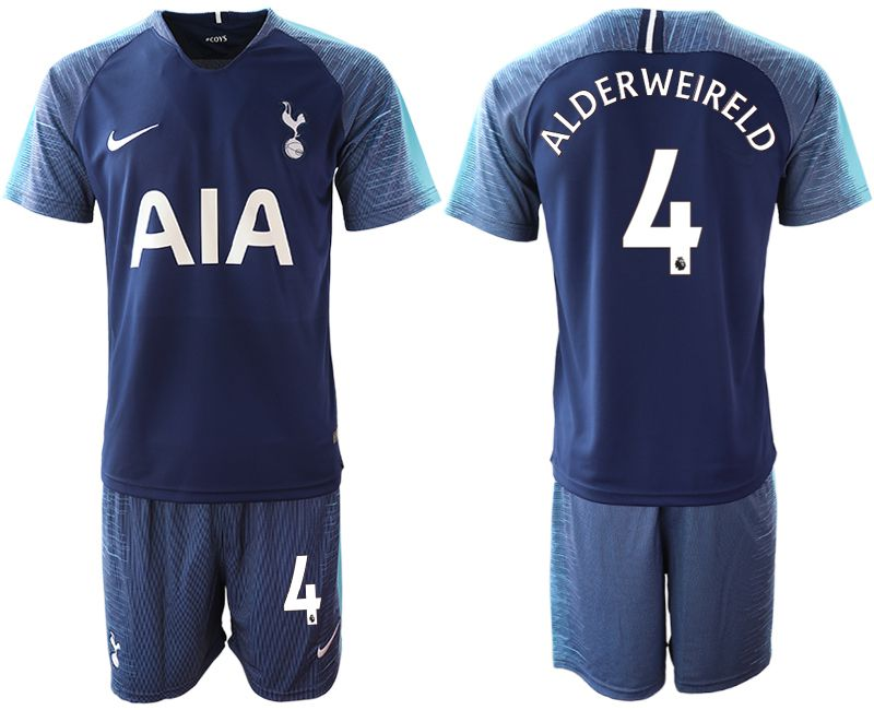 Men 2018-2019 club Tottenham Hotspur away 4 blue Soccer Jerseys