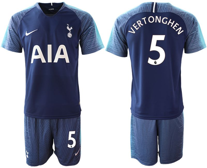 Men 2018-2019 club Tottenham Hotspur away 5 blue Soccer Jerseys