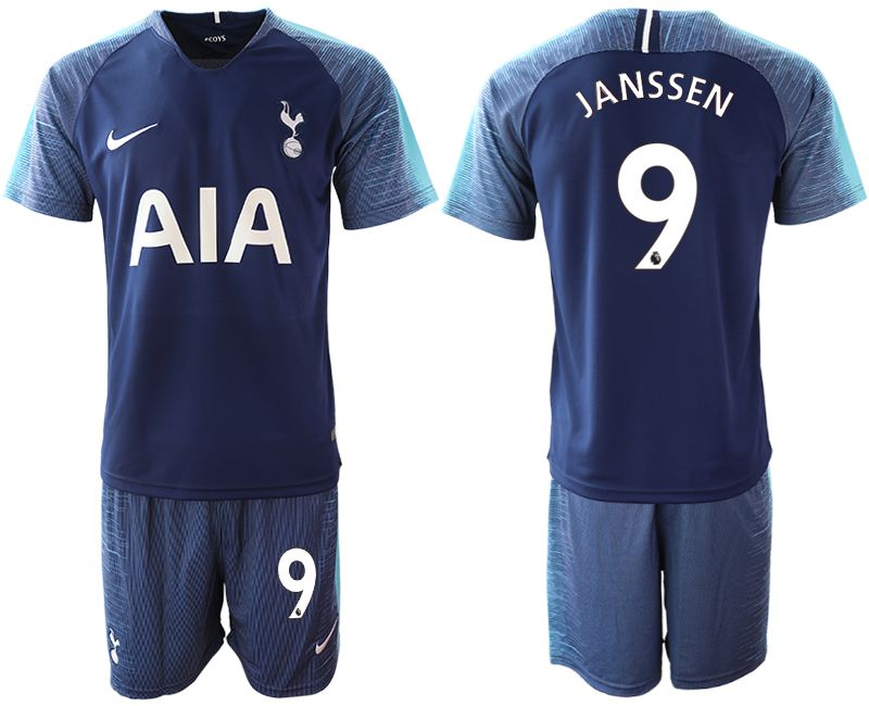 Men 2018-2019 club Tottenham Hotspur away 9 blue Soccer Jerseys