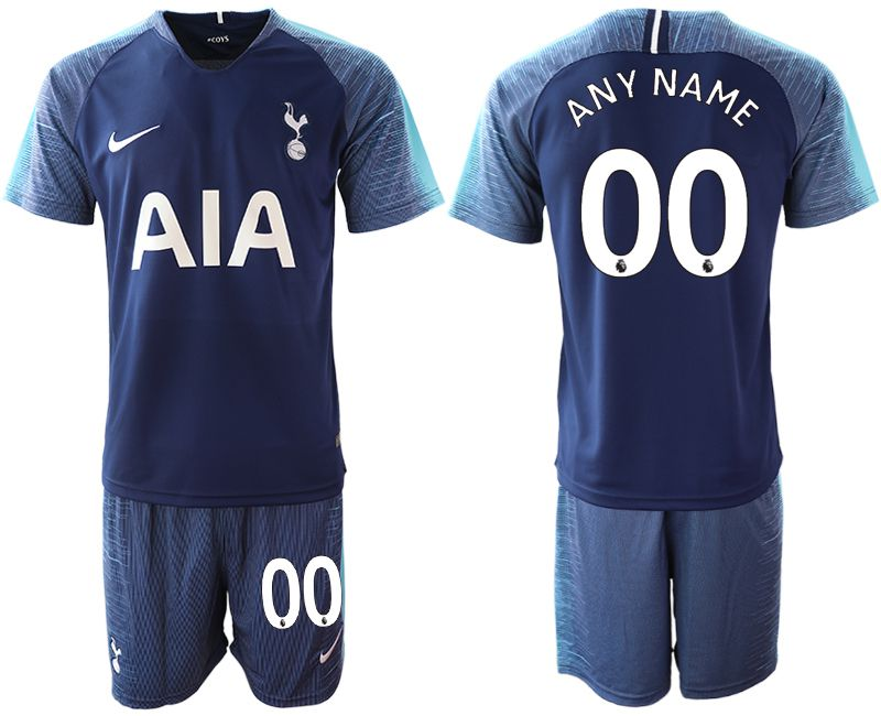 Men 2018-2019 club Tottenham Hotspur away customized blue Soccer Jerseys