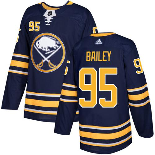 Men Adidas Buffalo Sabres 95 Justin Bailey Navy Blue Home Authentic Stitched NHL Jersey