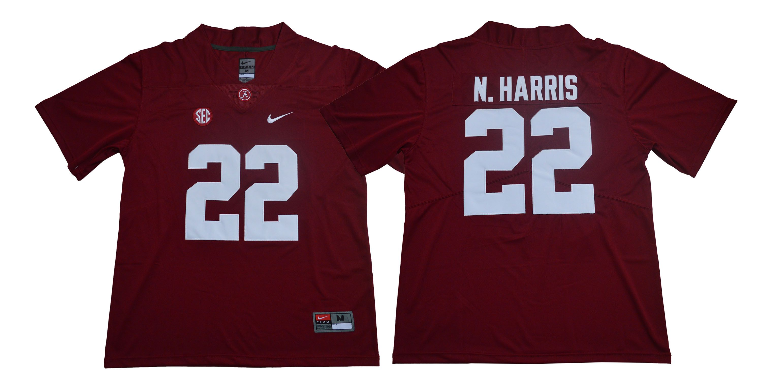 Men Alabama Crimson Tide 22 N.Harris Red Legendary Edition NCAA Jerseys