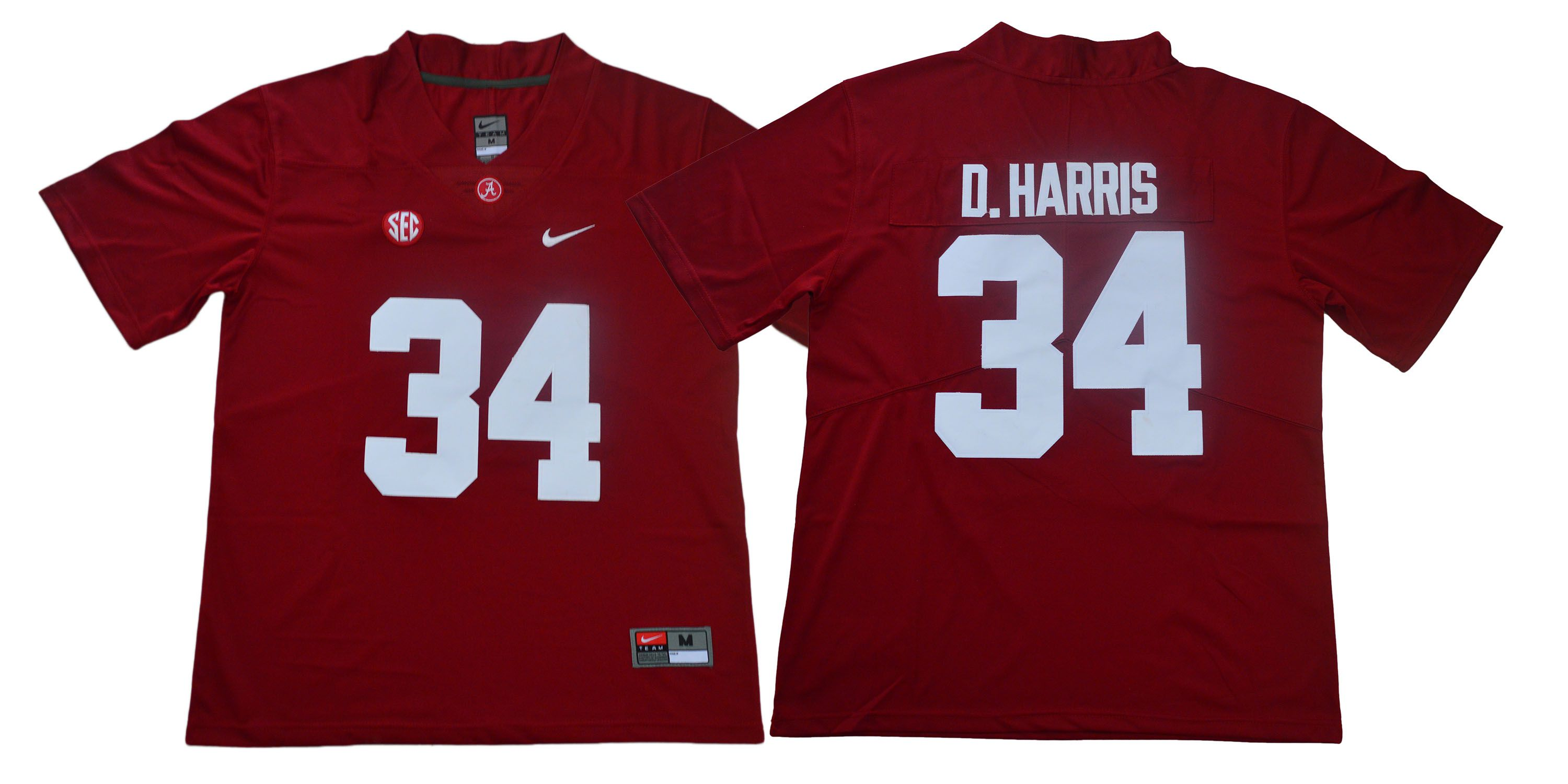 Men Alabama Crimson Tide 34 D.Harris Red Legendary Edition NCAA Jerseys