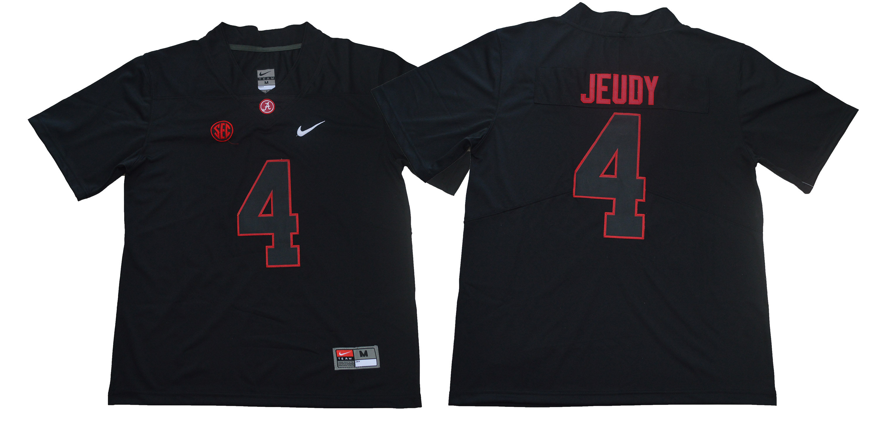 Men Alabama Crimson Tide 4 Jerry Jeudy Black Limited Stitched NCAA Jersey