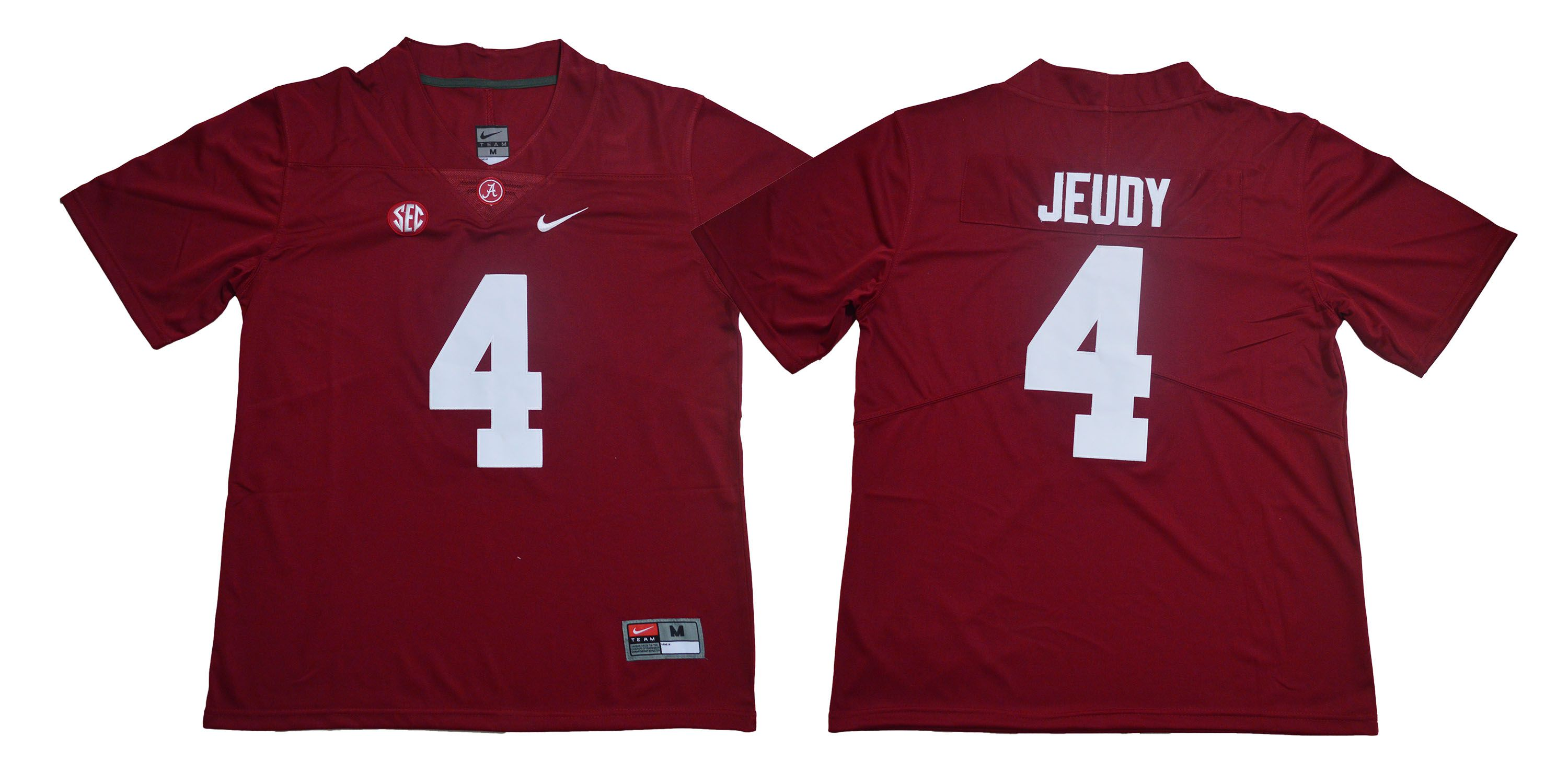Men Alabama Crimson Tide 4 Jeudy Red Legendary Edition NCAA Jerseys