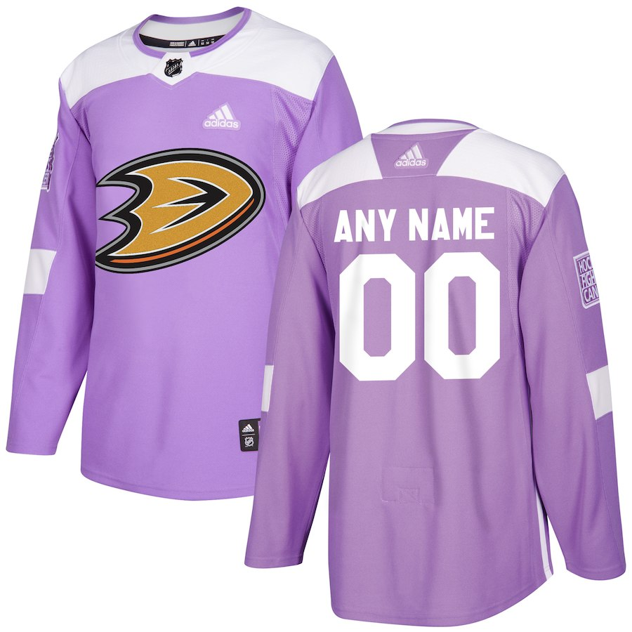 Men Anaheim Ducks Customized purple Adidas NHL jersey