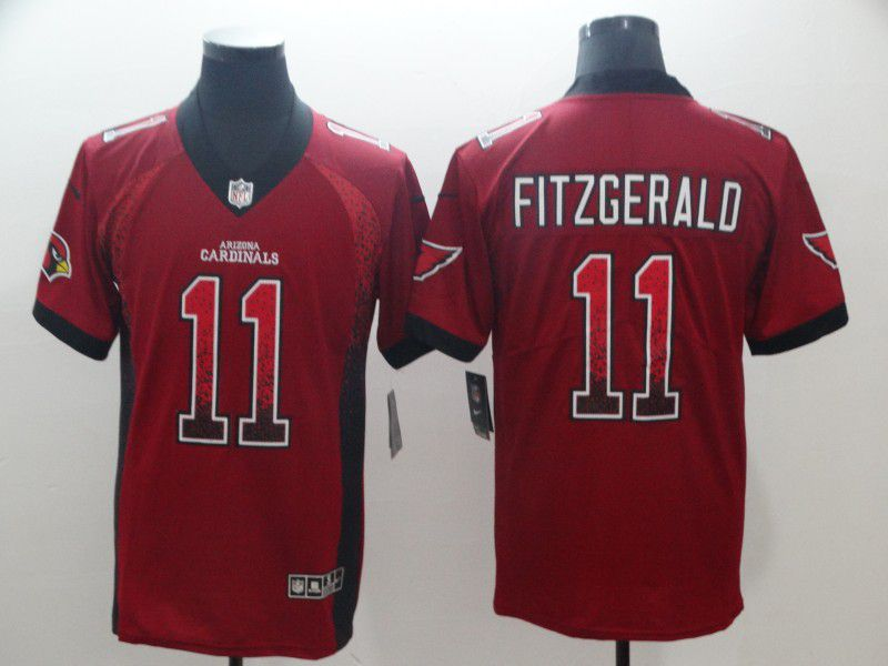 Men Arizona Cardinals 11 Fitzgerald Red Drift Fashion Color Rush Limited NFL Jerseys