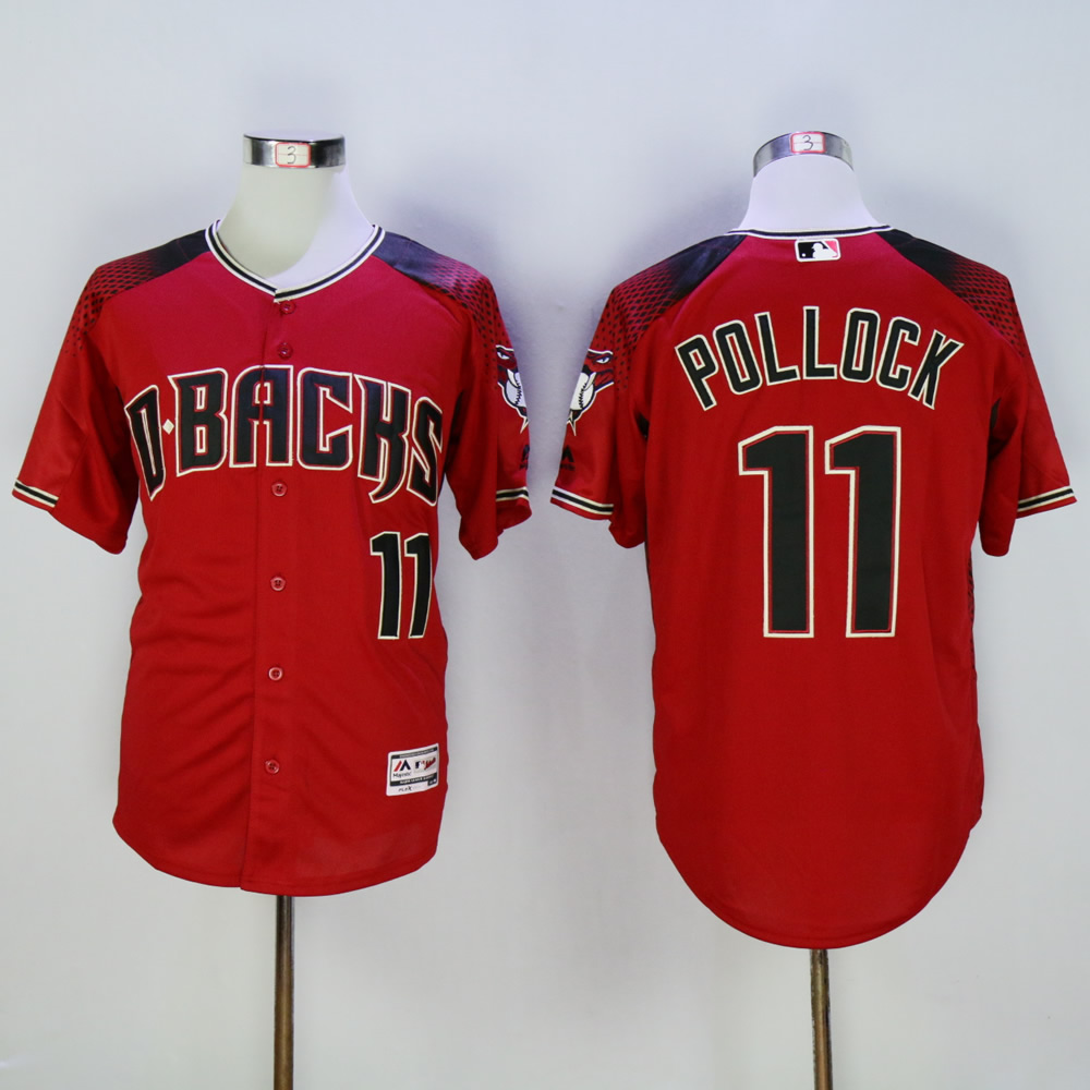 Men Arizona Diamondback 11 Pollock Red MLB Jerseys