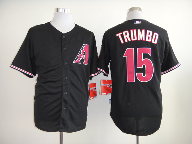 Men Arizona Diamondback 15 Trumbo Black MLB Jerseys