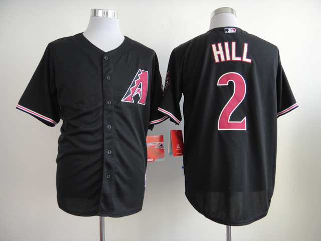 Men Arizona Diamondback 2 Hill Black MLB Jerseys