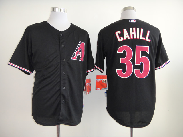 Men Arizona Diamondback 35 Cahill Black MLB Jerseys
