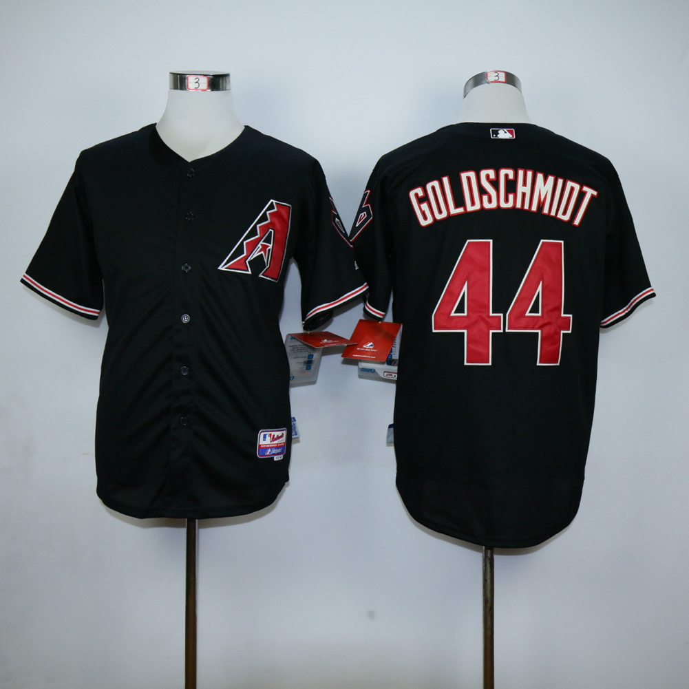 Men Arizona Diamondback 44 Goldschmidt Black MLB Jerseys1