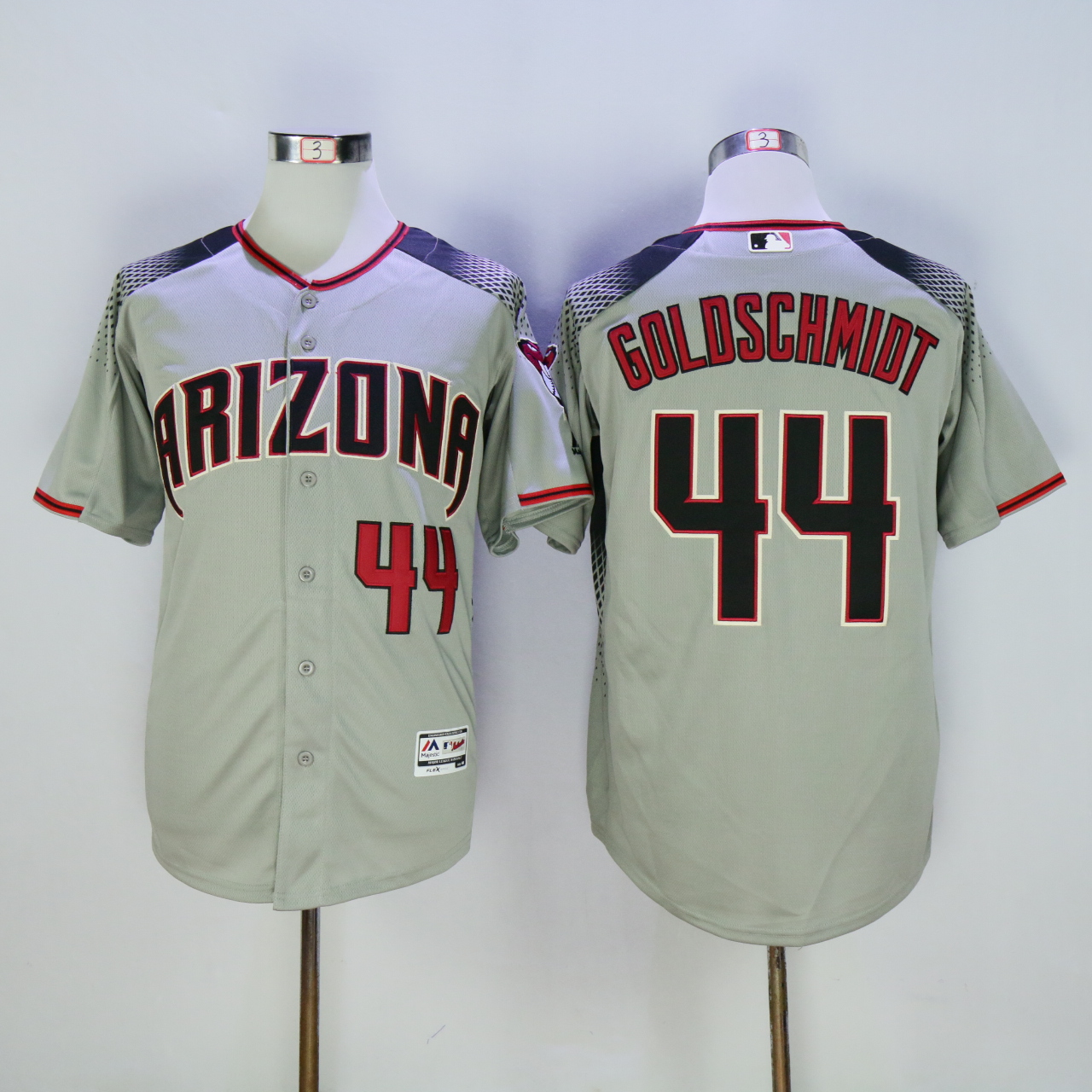 Men Arizona Diamondback 44 Goldschmidt Grey MLB Jerseys