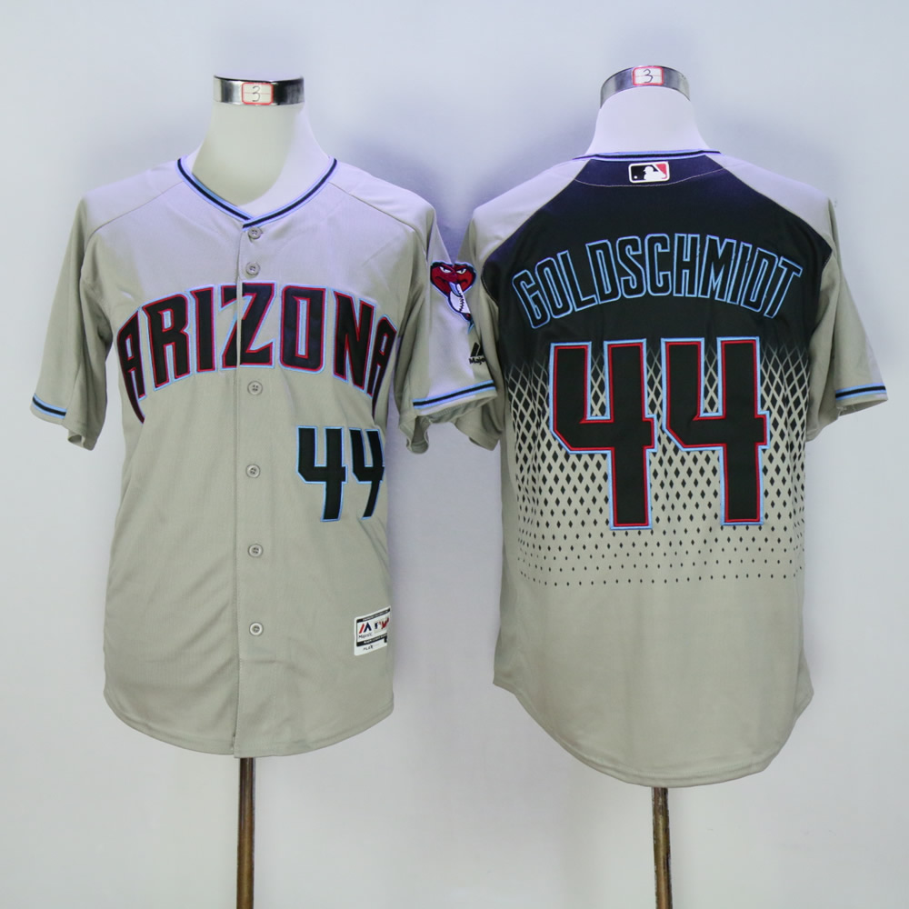 Men Arizona Diamondback 44 Goldschmidt Grey MLB Jerseys1