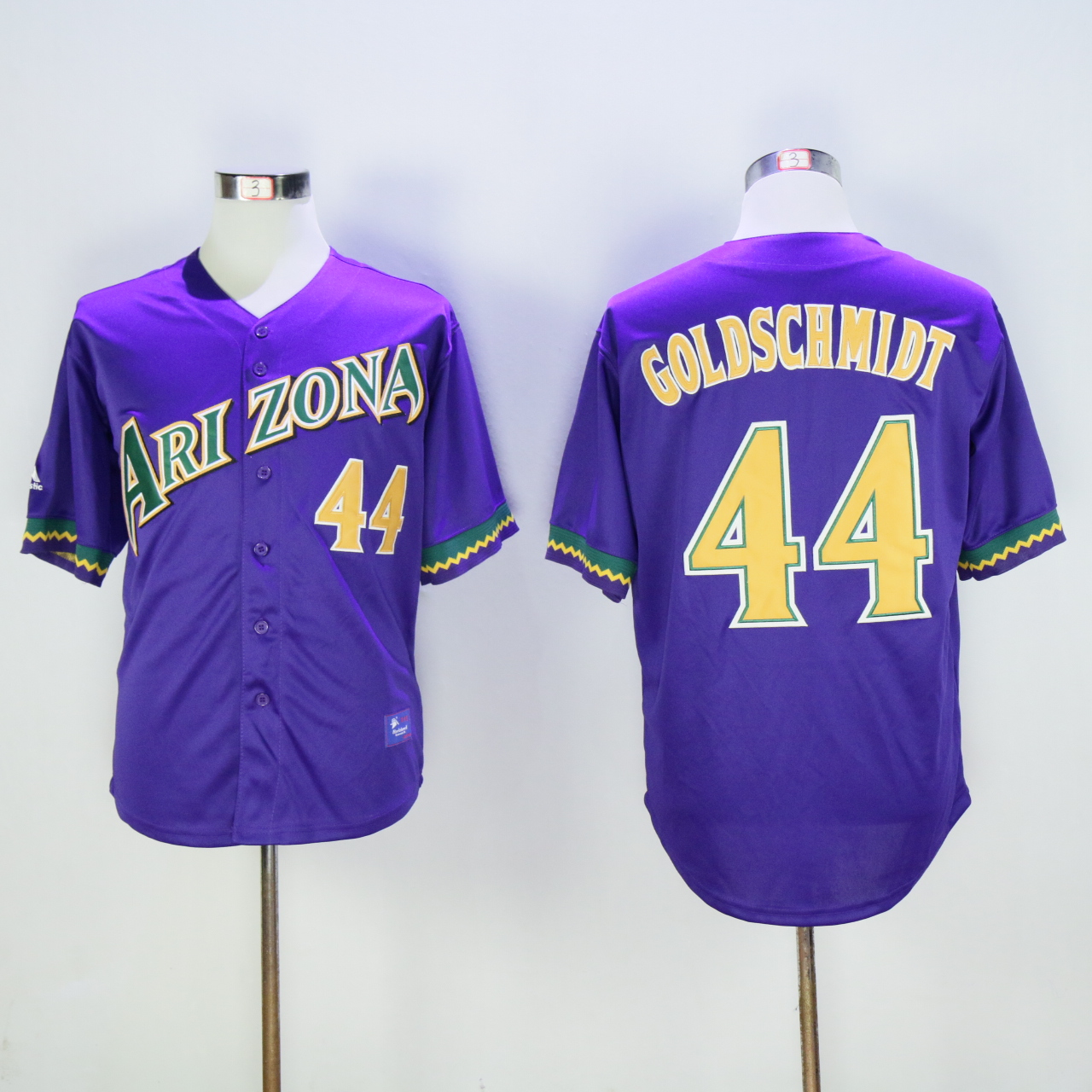 Men Arizona Diamondback 44 Goldschmidt Purple Throwback MLB Jerseys