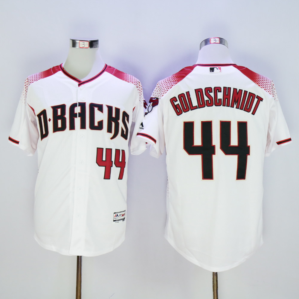 Men Arizona Diamondback 44 Goldschmidt White MLB Jerseys