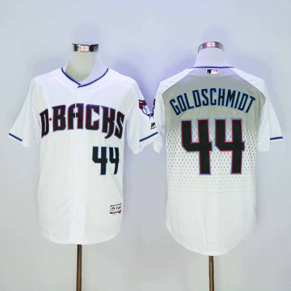 Men Arizona Diamondback 44 Goldschmidt White MLB Jerseys1