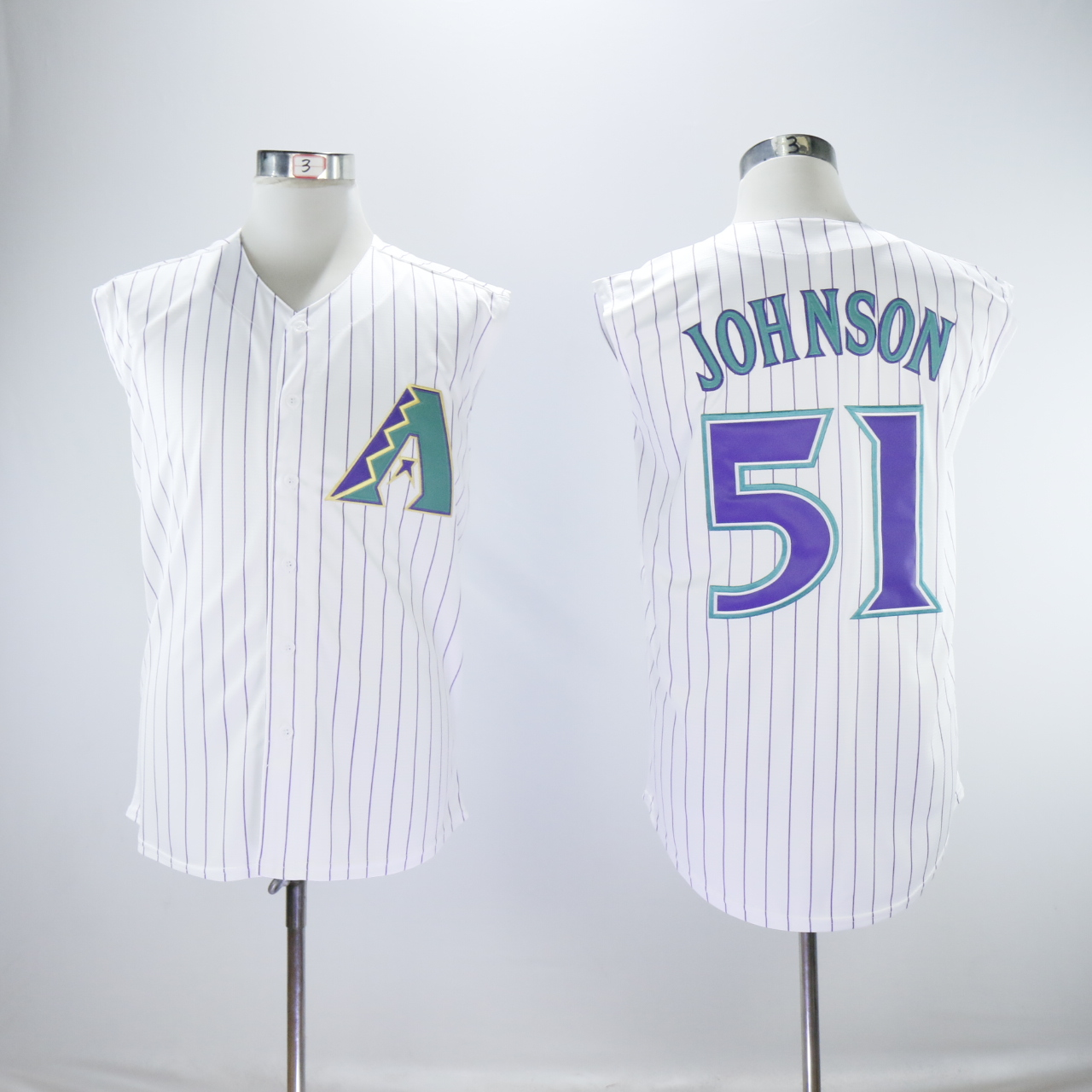 Men Arizona Diamondback 51 Johnson White MLB Jerseys
