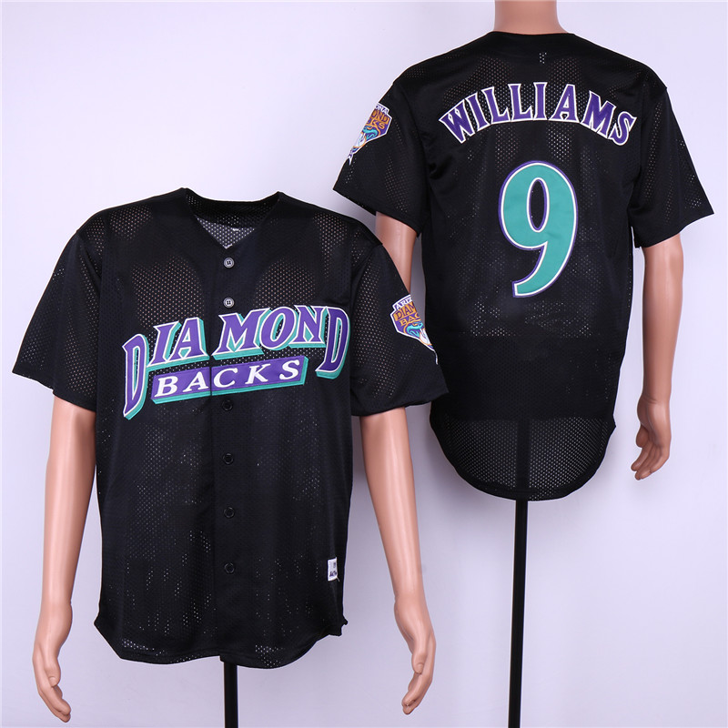 Men Arizona Diamondback 9 Williams Black MLB Jerseys
