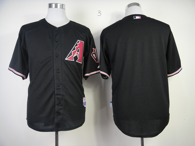 Men Arizona Diamondback Blank Black MLB Jerseys1