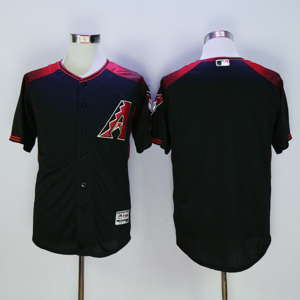 Men Arizona Diamondback Blank Black MLB Jerseys2