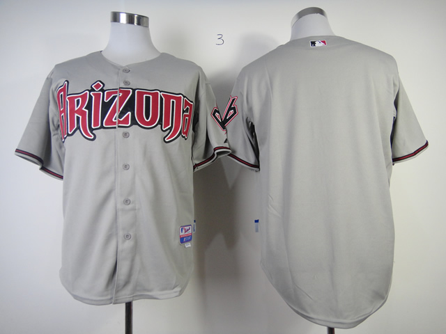 Men Arizona Diamondback Blank Grey MLB Jerseys
