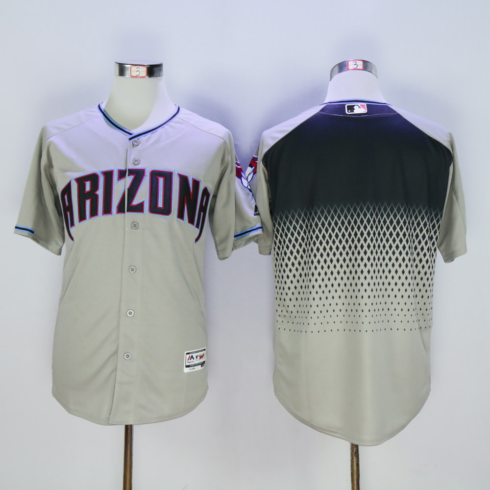 Men Arizona Diamondback Blank Grey MLB Jerseys2