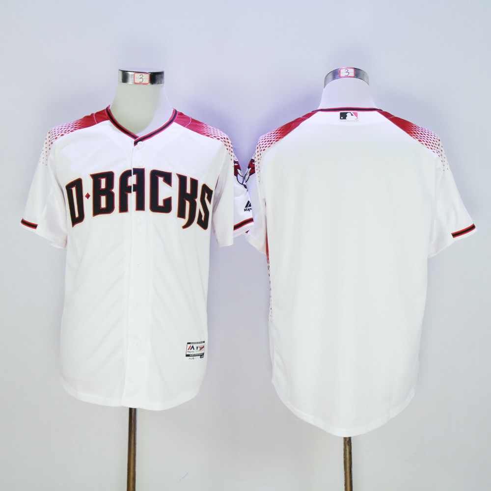Men Arizona Diamondback Blank White MLB Jerseys