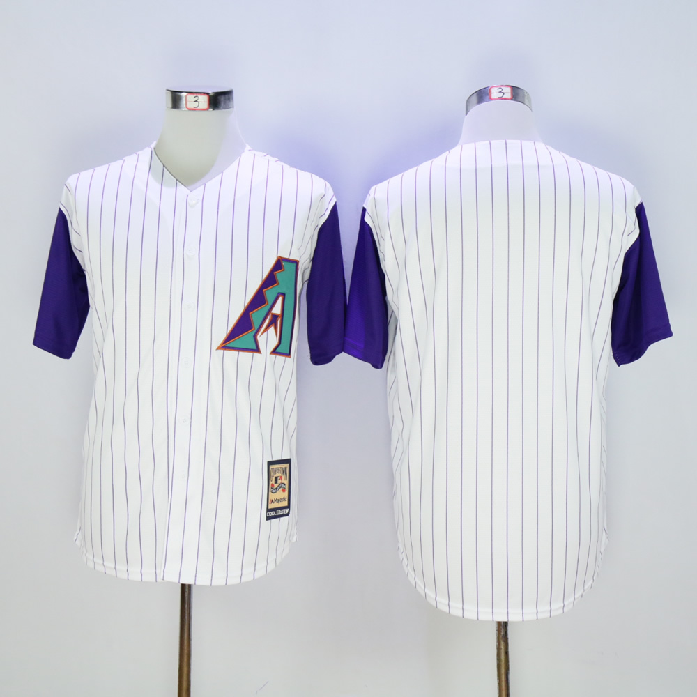 Men Arizona Diamondback Blank White Throwback Game MLB Jerseys