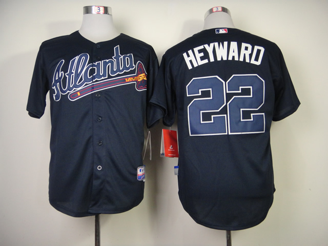 Men Atlanta Braves 22 Heyward Blue MLB Jerseys