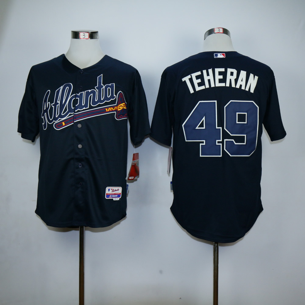 Men Atlanta Braves 49 Teheran Blue MLB Jerseys