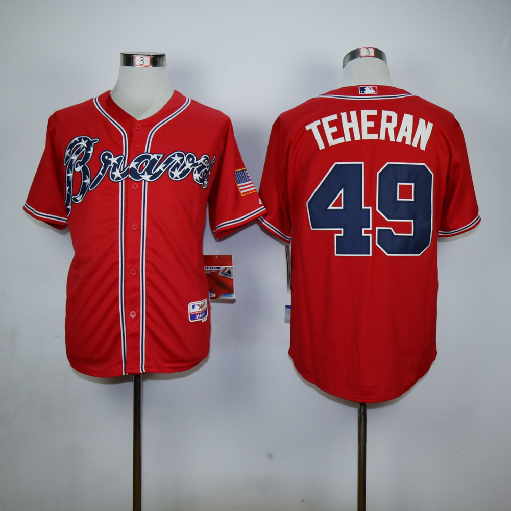 Men Atlanta Braves 49 Teheran Red MLB Jerseys