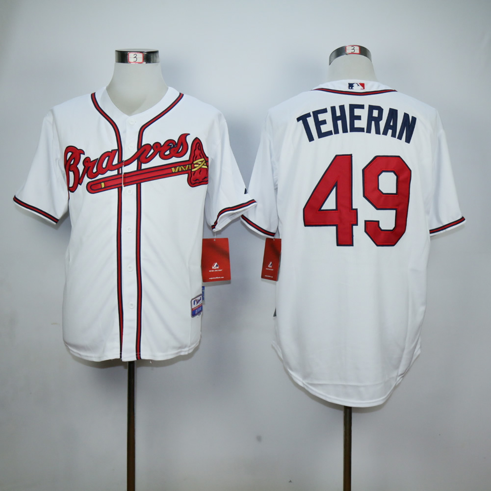 Men Atlanta Braves 49 Teheran White MLB Jerseys