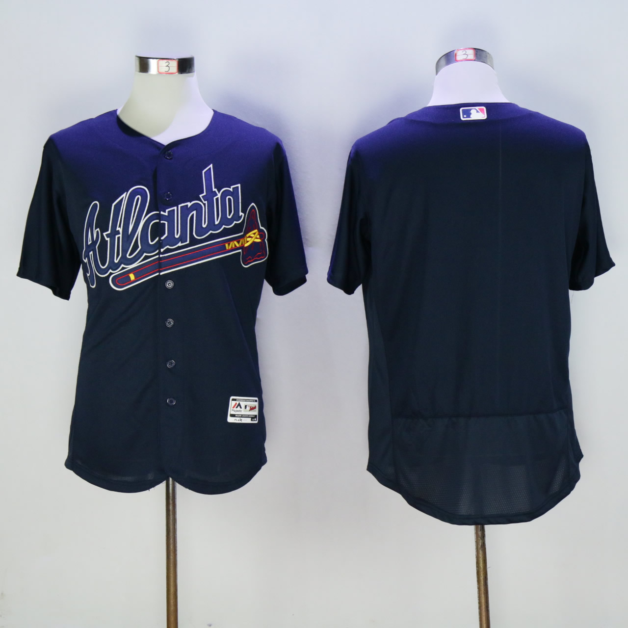 Men Atlanta Braves Blank Blue Elite MLB Jerseys