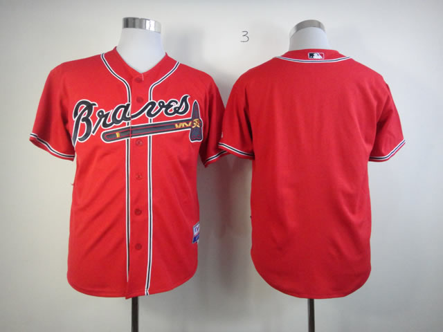 Men Atlanta Braves Blank Red MLB Jerseys