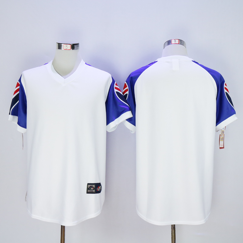 Men Atlanta Braves Blank White Throwback 1973 MLB Jerseys