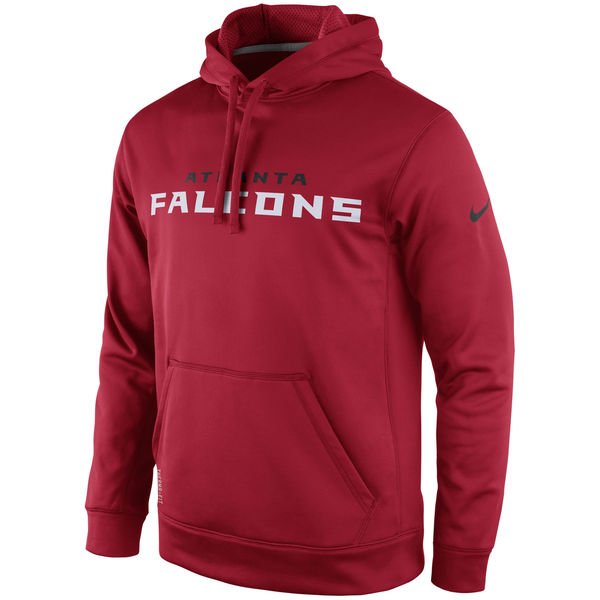 Men Atlanta Falcons Nike KO Wordmark Performance HoodieRed