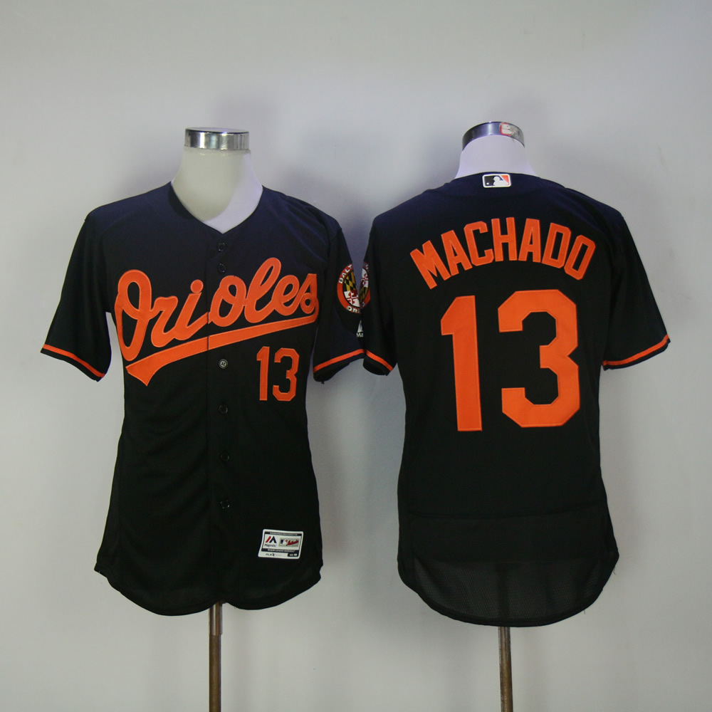 Men Baltimore Orioles 13 Machado Black Elite MLB Jerseys
