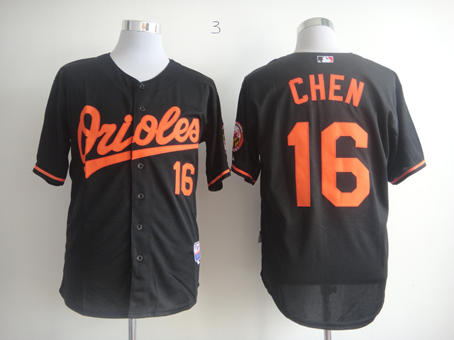 Men Baltimore Orioles 16 Chen Black MLB Jerseys