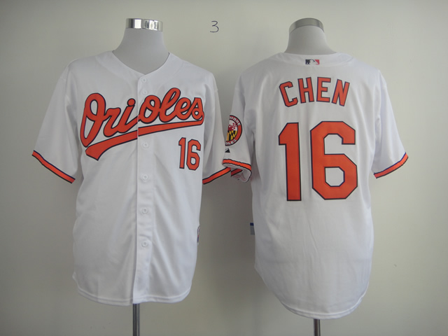 Men Baltimore Orioles 16 Chen White MLB Jerseys