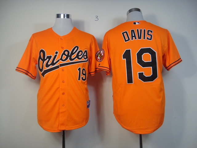 Men Baltimore Orioles 19 Davis Orange MLB Jerseys