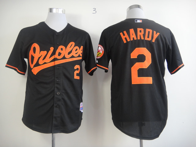Men Baltimore Orioles 2 Hardy Black MLB Jerseys