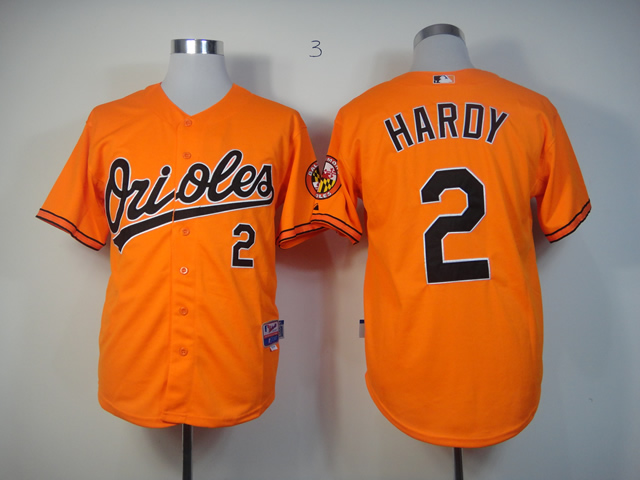 Men Baltimore Orioles 2 Hardy Orange MLB Jerseys