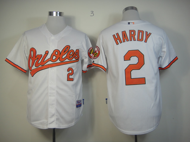 Men Baltimore Orioles 2 Hardy White MLB Jerseys