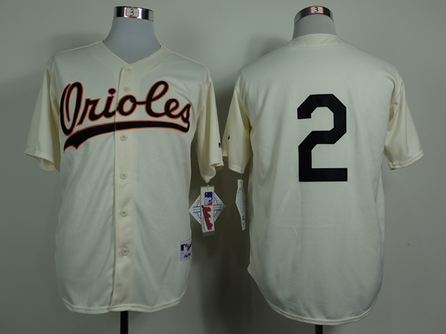 Men Baltimore Orioles 2 No name Gream 1954 MLB Jerseys